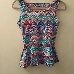 Body Central top S stylish cut out back
